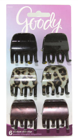 Goody Classics Cheetah Half Claw Clips Medium