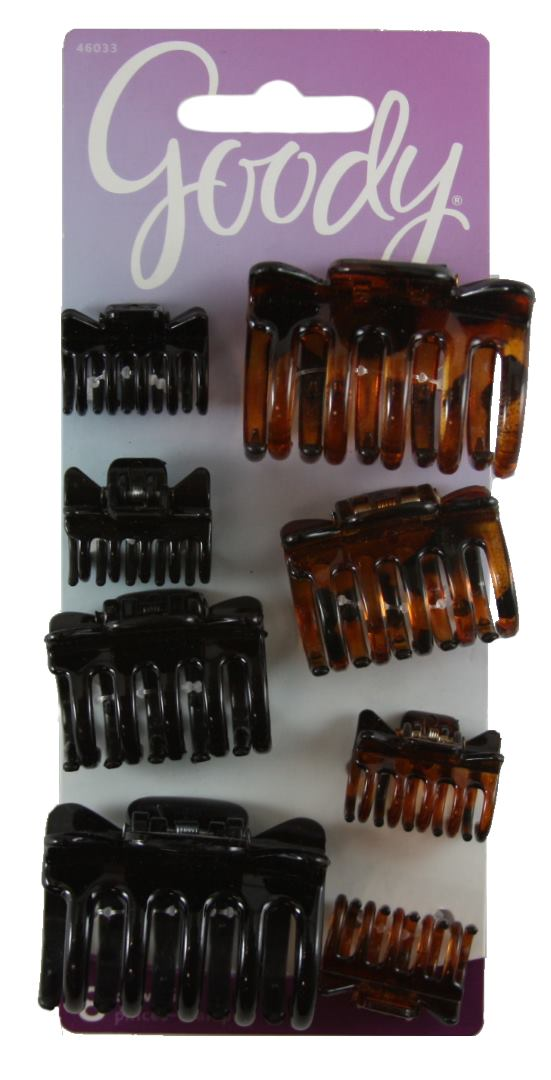 Goody Claw Clips Assorted Sizes - 8 Count