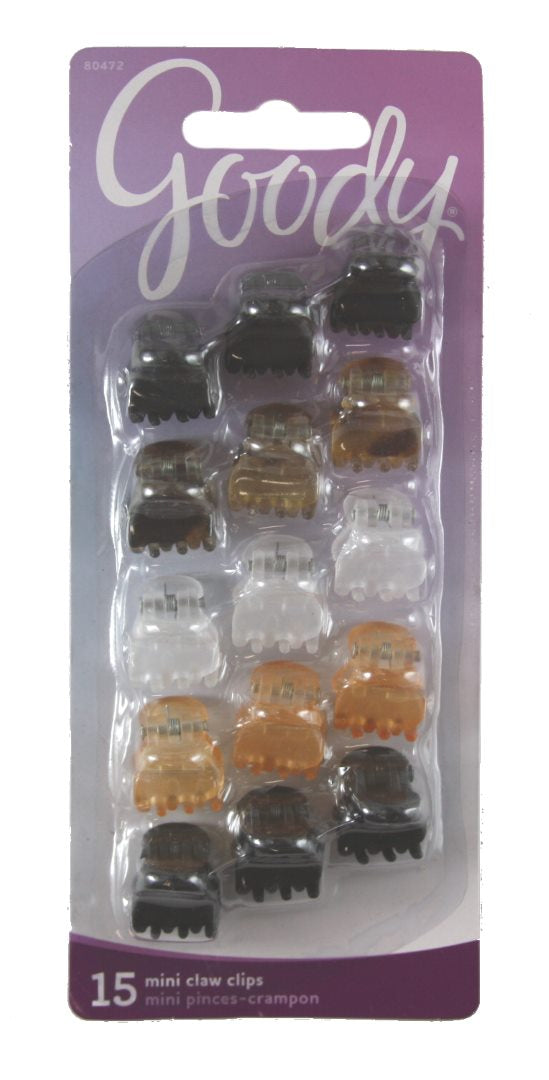 Goody Classics Claw Clip Mini Crown - 15 Count