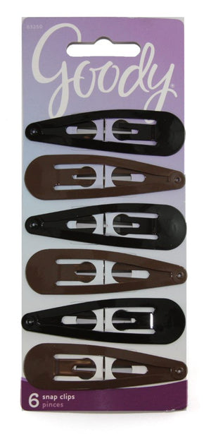 Goody Snap Clips Black and Brown