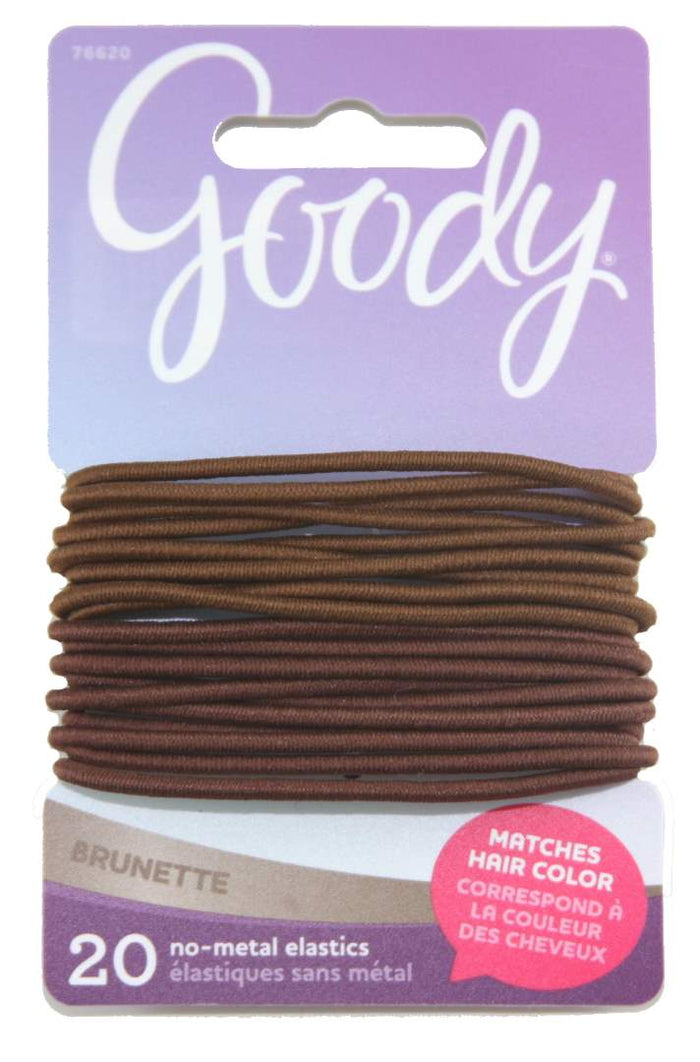 Goody Color Collection Elastics Brunette 2 mm - 20 Count