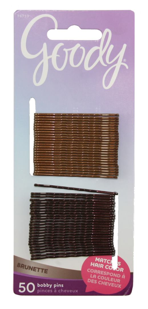 Goody Color Collection Metallic Finish Bobby Pin Brunette - 50 Count