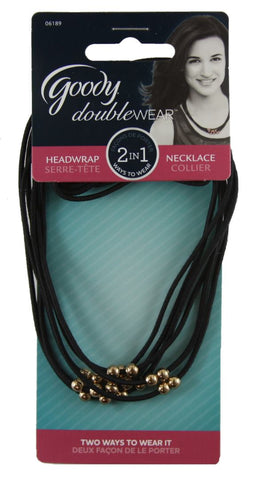 Goody DoubleWear 2 in1 HeadWrap NecklAce 2 Count