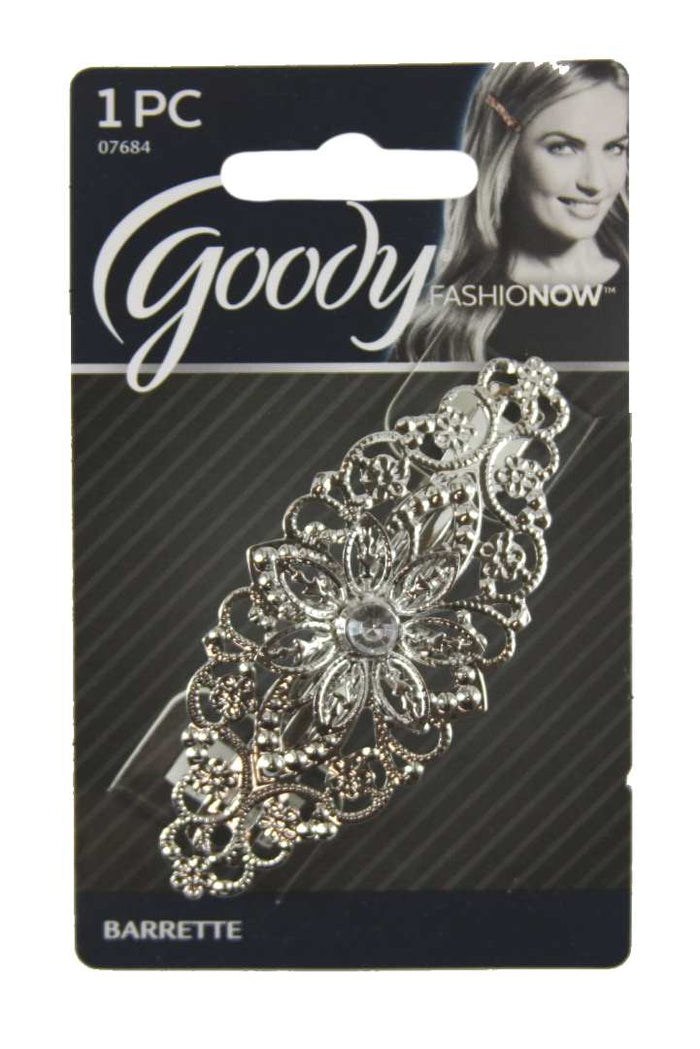 Goody FashioNow Luxe Rhinestone Center Autoclasp Silver - 1 Pack