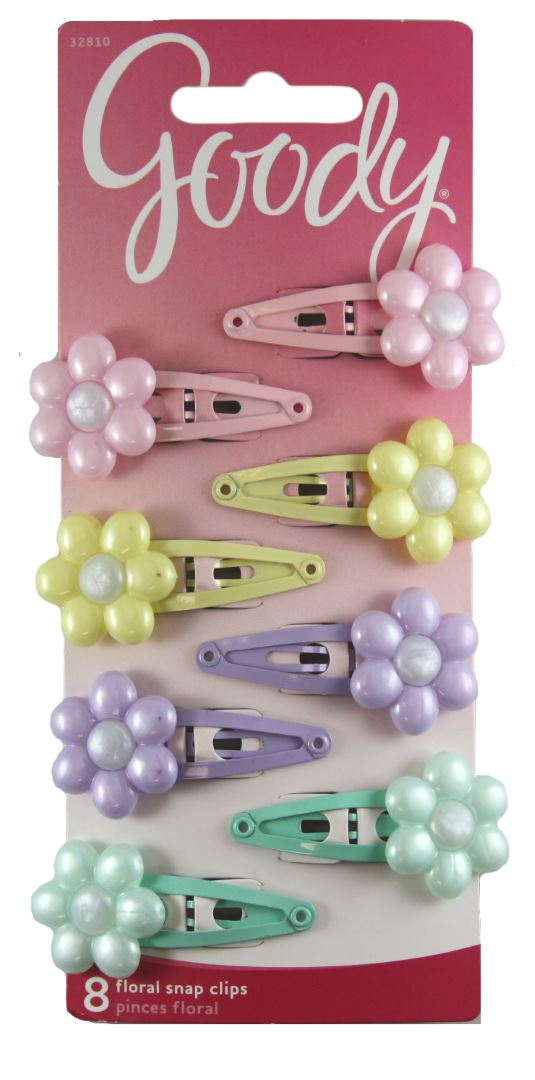 Goody Girls Daisy Charmed Contour Clips Pastels - 8 Count