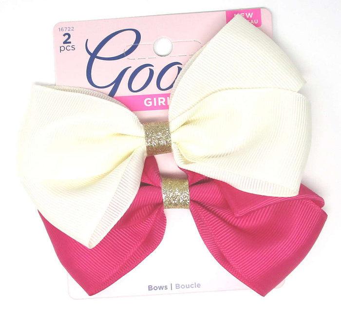 "Goody Girls Hair Bow Barrettes 4.5"" - 2 Count"