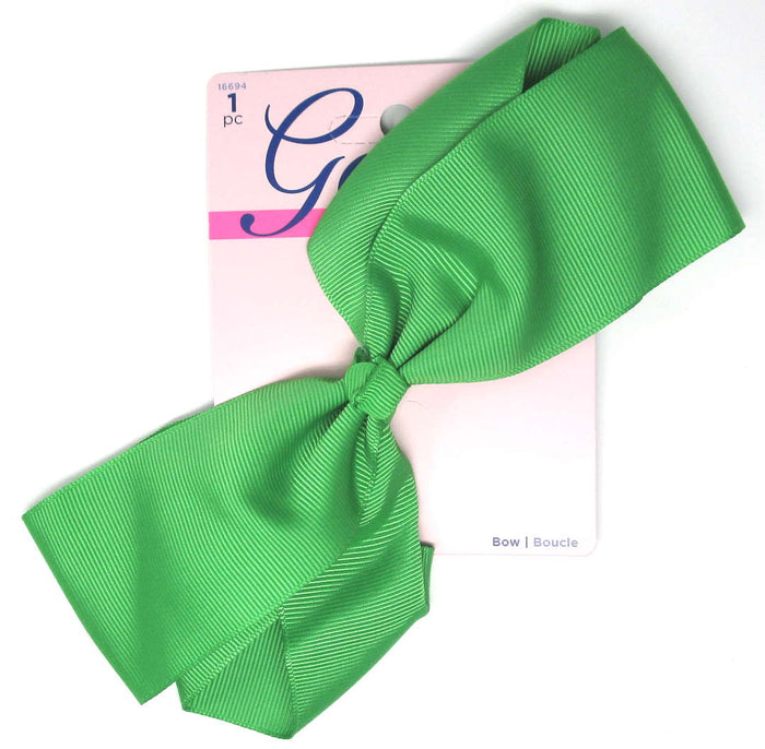 "Goody Girls Big Green Hair Bow Barrette 7"" - 1 Count"