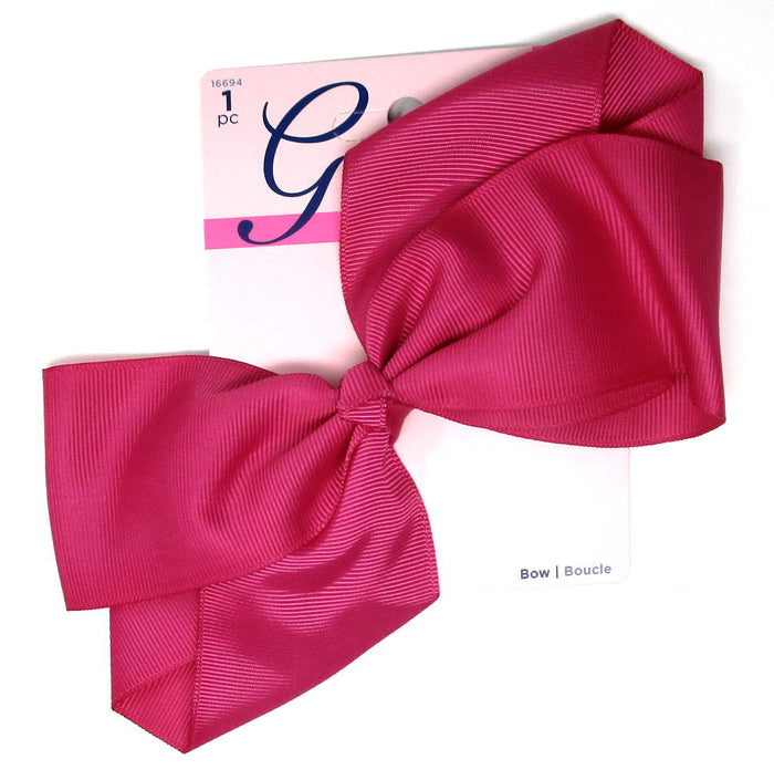"Goody Girls Big Pink Hair Bow Barrette 7"" - 1 Count"