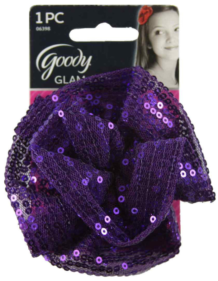 Goody Girls Purple Sequin Flower Salon Clip - 1 Count