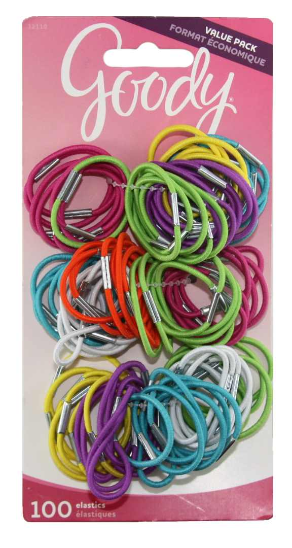 Goody Girls Small Thin Metal Elastics - 100 Count