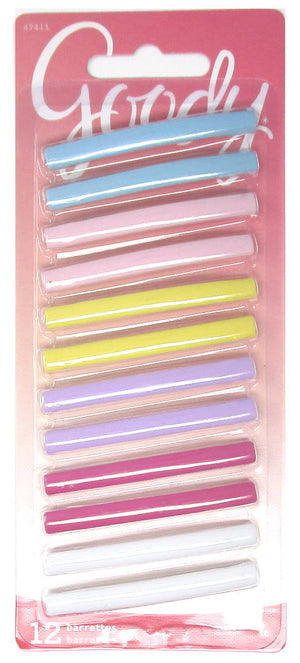 "Goody Stay Tight Pastel Barrettes 2"" - 12 Count"