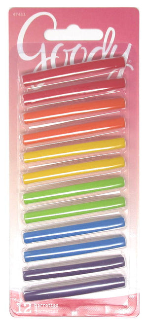 "Goody Stay Tight Rainbow Barrettes 2"" - 12 Count"