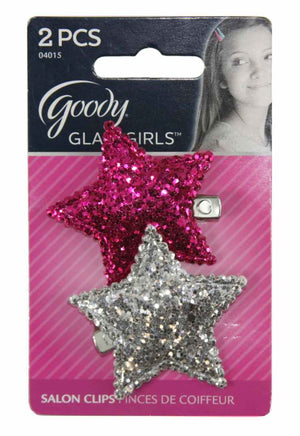 Goody Large Glitter Star Clip Barrettes