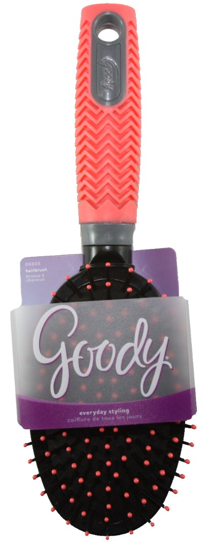 Goody Neon Grips Everyday Styling Hair Brush Pink - 1 Brush