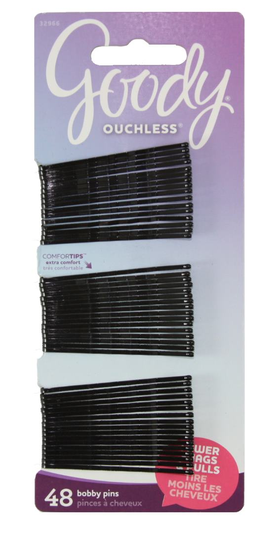 Goody Ouchless Bobby Pin Crimped Black 2 Inches - 48 Count