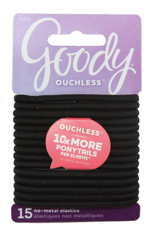Goody Ouchless Elastic Hair Bands Black Non Metal