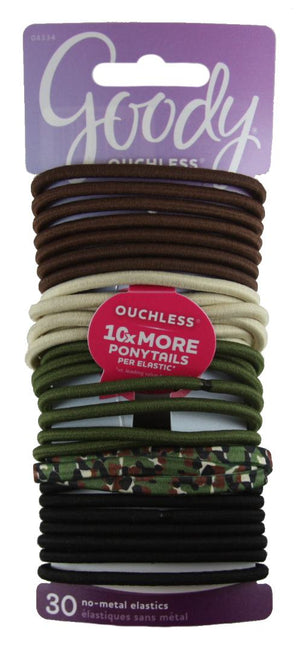 Goody Ouchless Elastics Camouflage