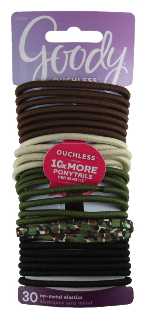 Goody Ouchless Elastics Camouflage - 30 Count