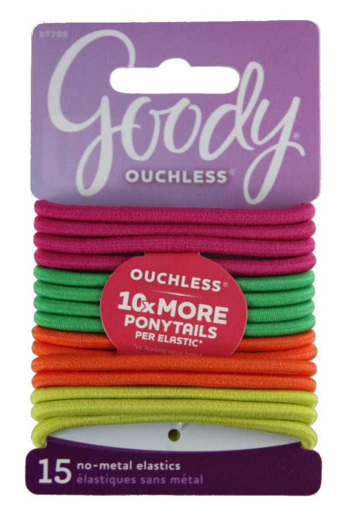 Goody Ouchless Elastics Citrus - 15 Pack