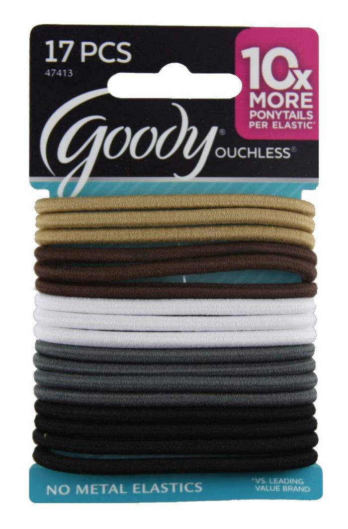 Goody Ouchless Elastics Thick Natural - 17 Count
