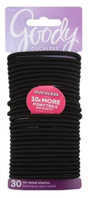 Goody Ouchless Gentle Elastics Black Thick