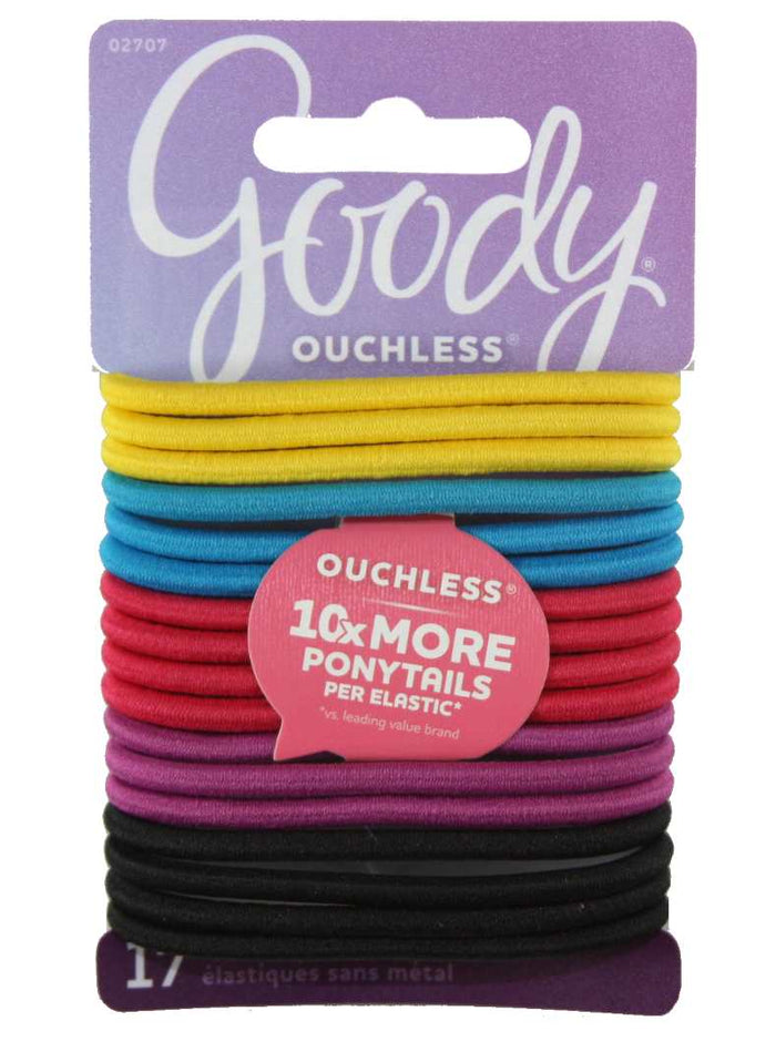 Goody Ouchless No Metal Elastics - 17 Elastics