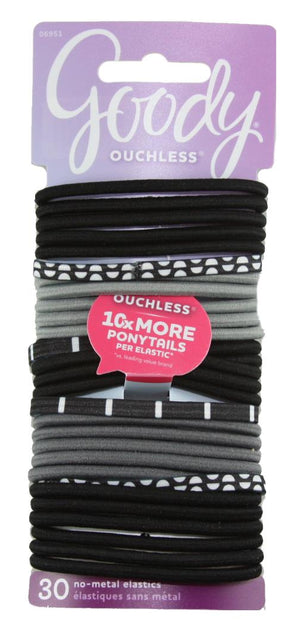 Goody Ouchless No Metal Elastics Black and White