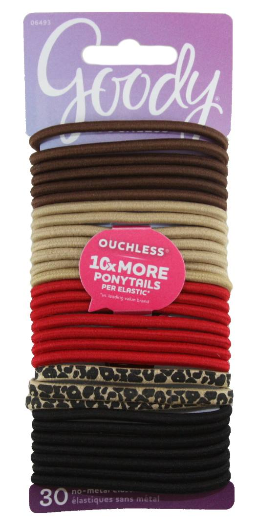 Goody Ouchless No Metal Elastics Cheetah Red - 30 Pack