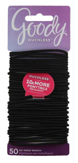 Goody Ouchless No Metal Elastics Large Thin Black 2 mm