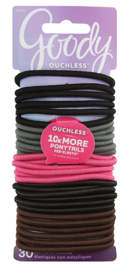 Goody Ouchless No Metal Elastics Ultra Fem - 30 Pack