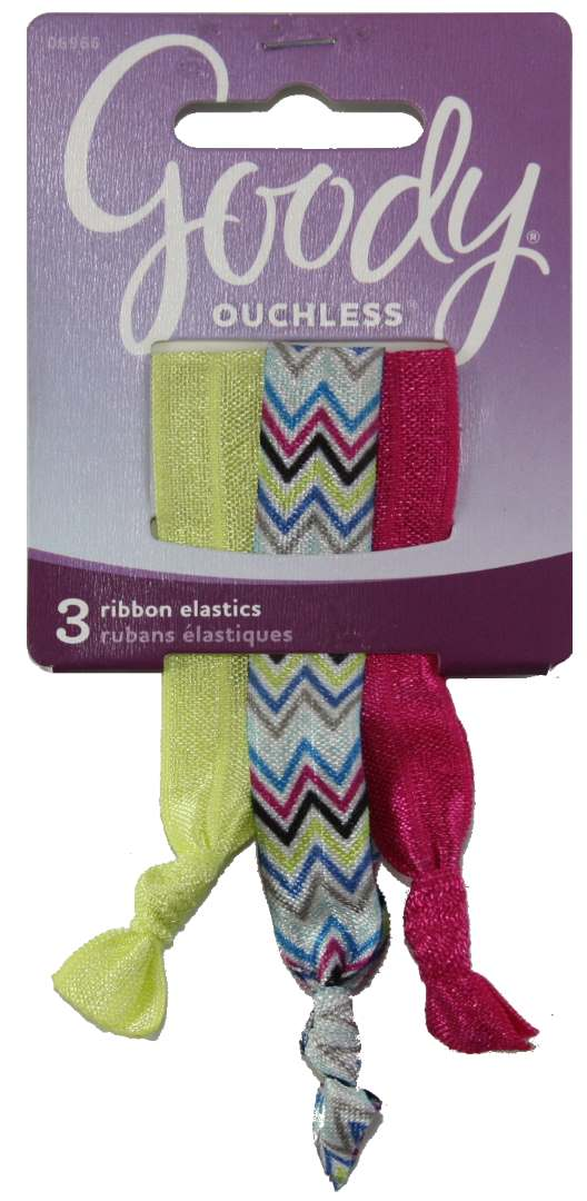 Goody Ouchless Ribbon Elastics Stylista Double Chevron - 3 Pack