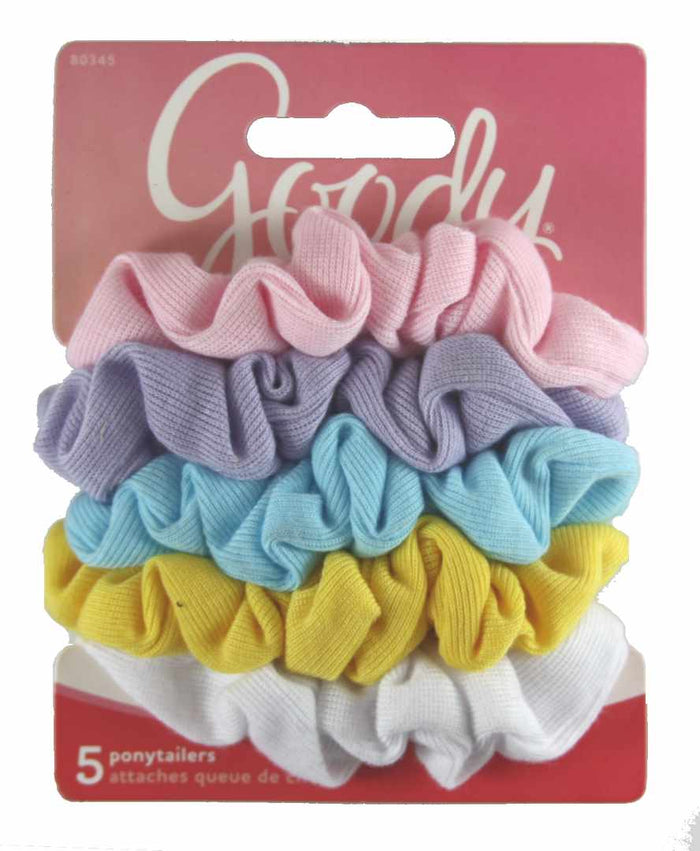 Goody Ouchless Pastel Scrunchies - 5 Count