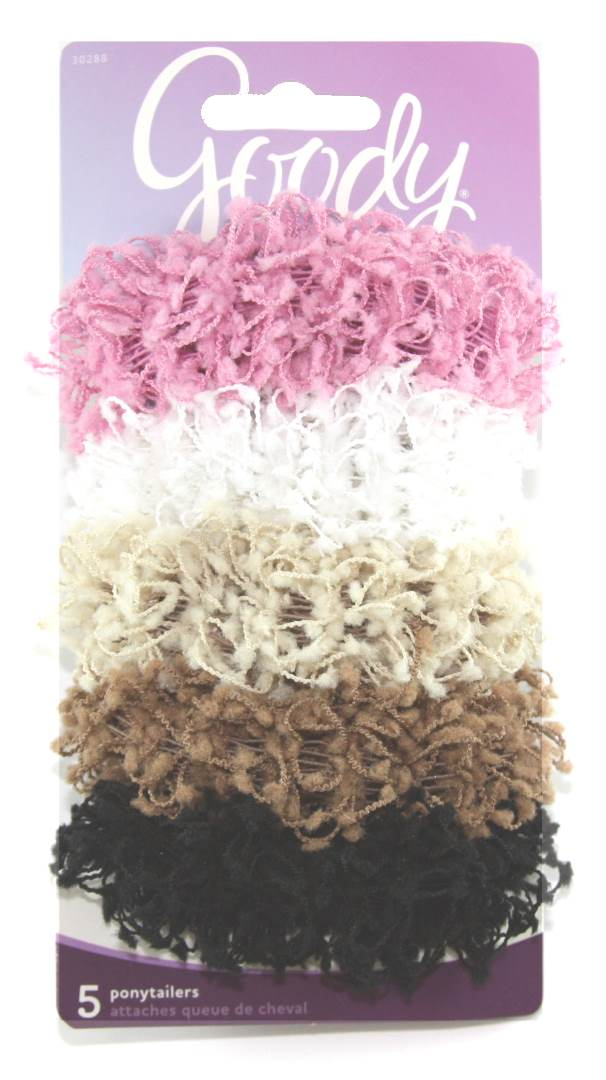 Goody Ouchless Scrunchie Chenille and Cotton - 5 Count