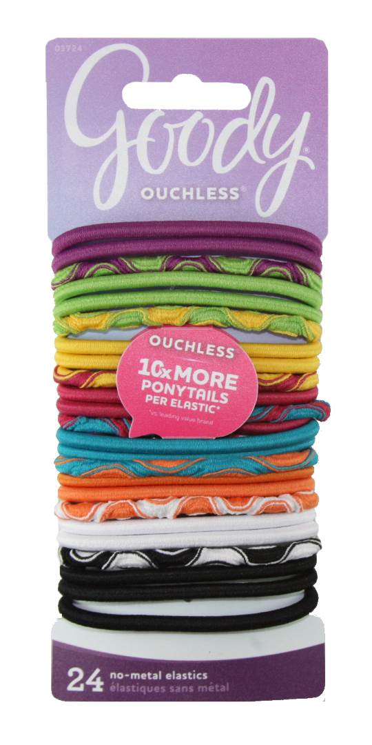 Goody Ouchless Thick Mixed Elastics - 24 Count
