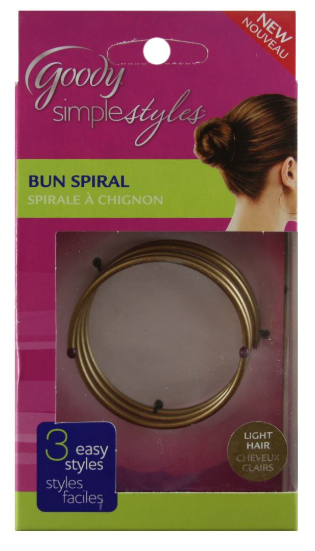 Goody Simple Styles Bun Spiral for Dark Hair - 1 Pack