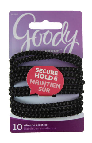 Goody Slide Proof Stayput Black Elastics 4 mm