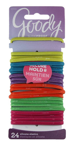 Goody SlideProof Flat Elastics Logo Bright