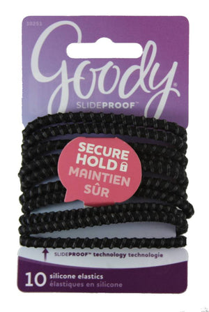 Goody Stay Put Elastic Pony Round Black