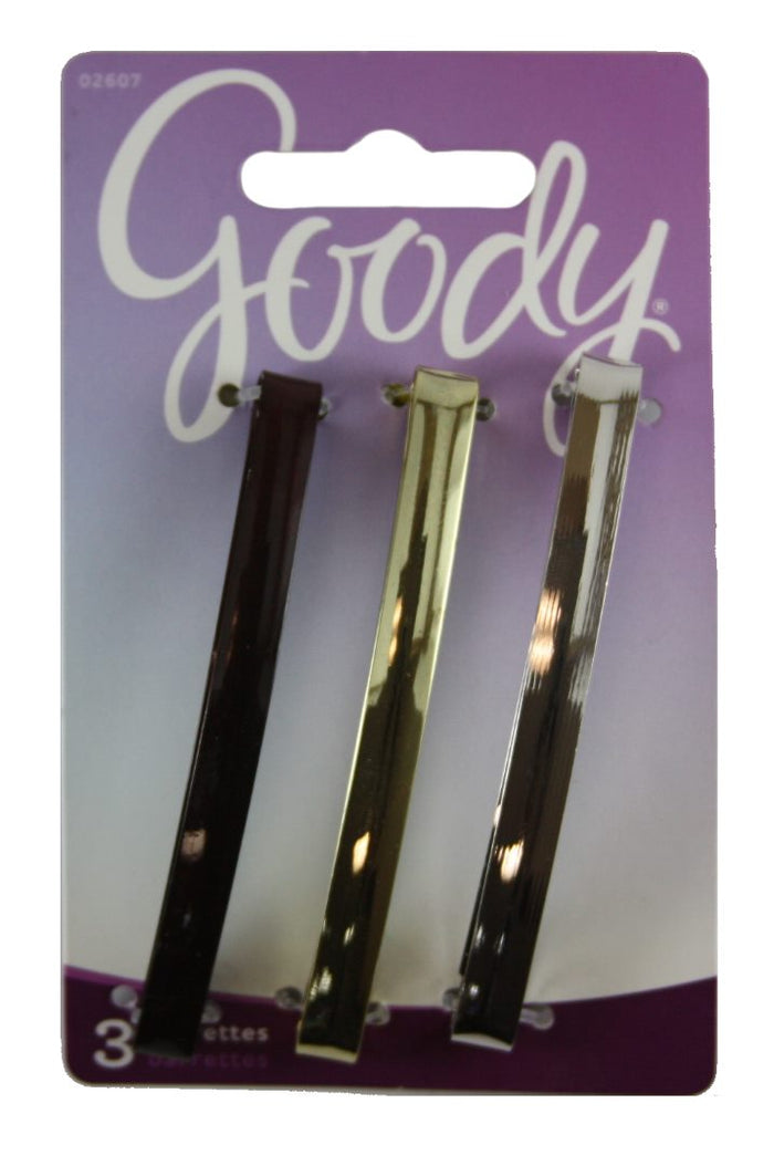 "Goody Metal Hair Barrettes 3"" - 3 Pieces"