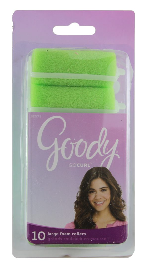 Goody Styling Essentials Roller Foam Large Green - 10 Rollers