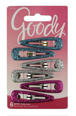 Goody Tween Girls Glitter Snap Clip Barrettes