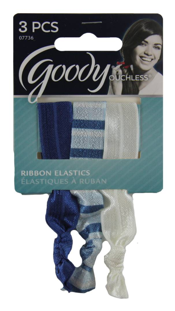 Goody Women's Ouchless Ribbon Elastics Nautical - 3 Pack