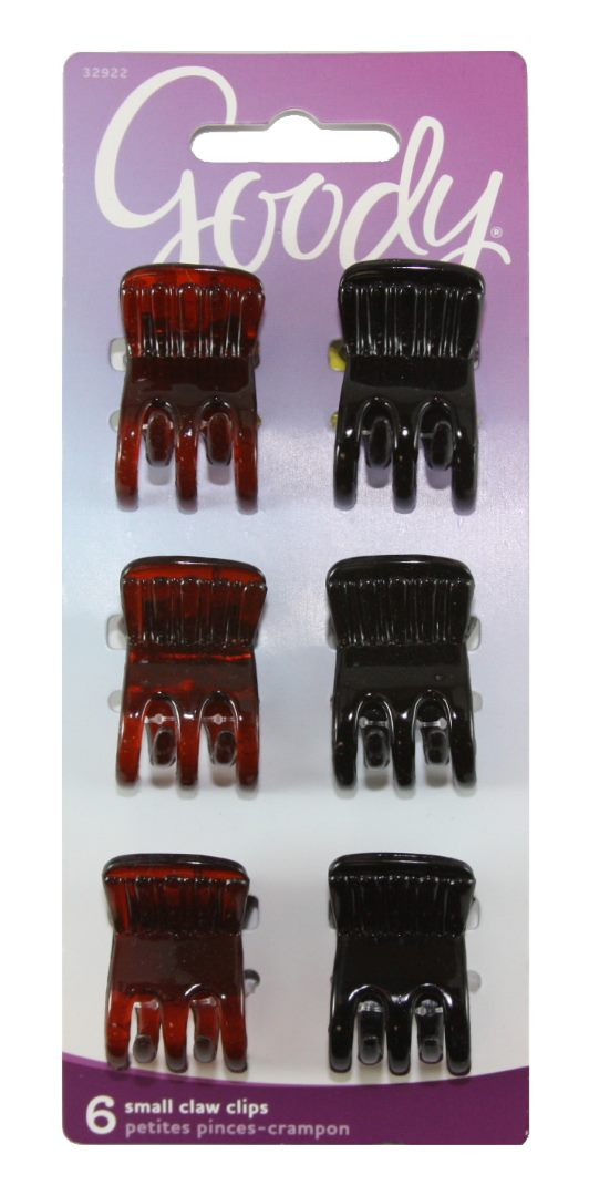 Goody Classic Small Claw Clips - 6 Clips