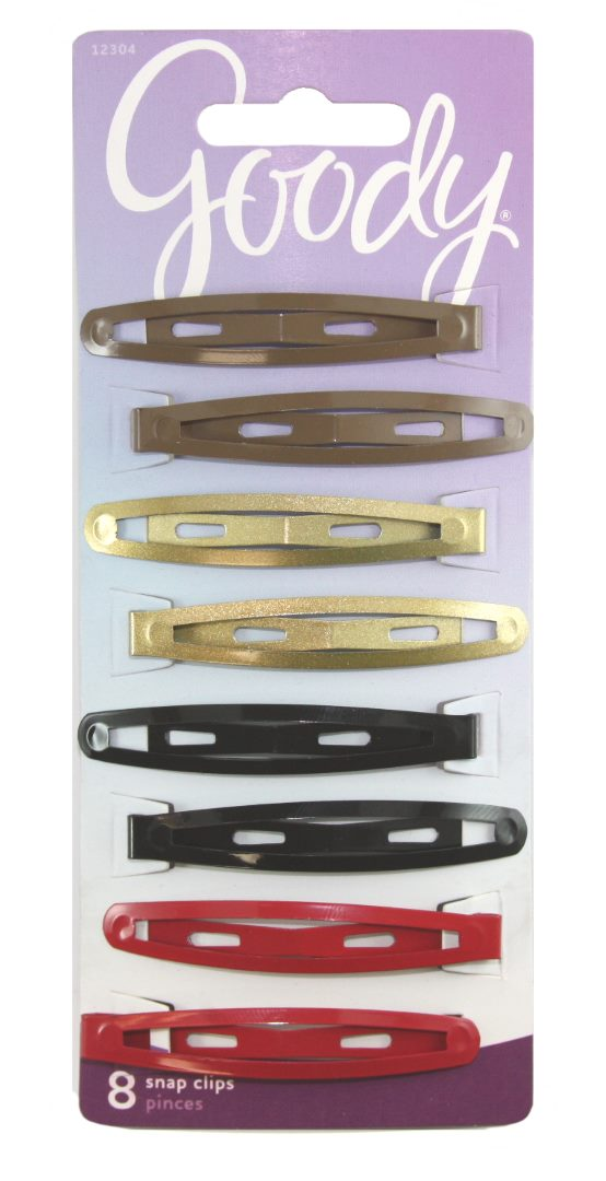 Goody Womens Classic Oval Metal Contour Clip Assorted - 8 Count