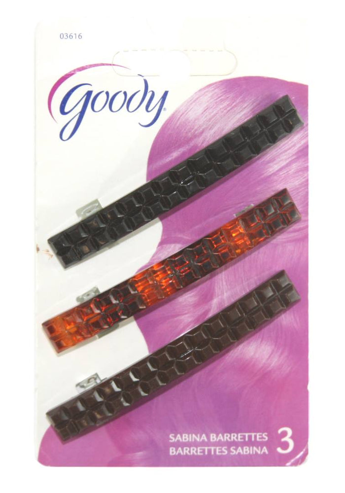 Goody Womens Classic Pyramid Cut Autoclasps - 3 Pack