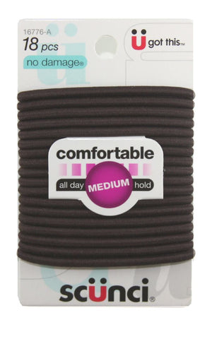 Scunci Brown No Damage Hair Elastics 4 mm