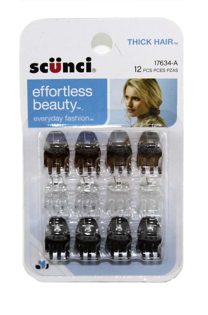 Scunci Claw Clips Thick Hair - 12 Pack
