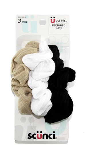 Scunci Effortless Beauty Basic Ribbed Twisters 3 Pack