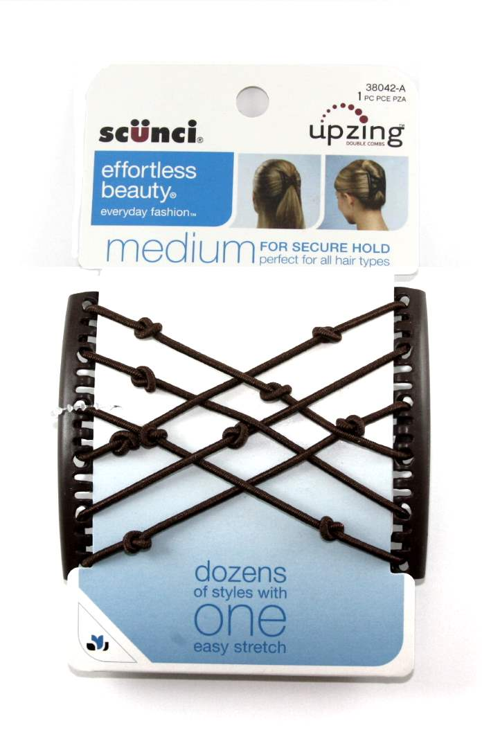 Scunci Effortless Beauty Double Combs Upzing Medium Black - 1 Pack