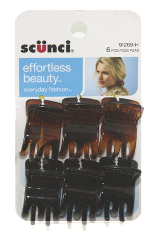 Scunci Everyday Fashion Jaw Clips Assorted